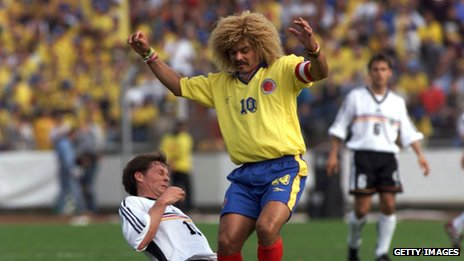 Carlos Valderrama at the 1998 World Cup in France