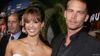 Paul Walker and Jessica Alba at the premiere of Into the Blue