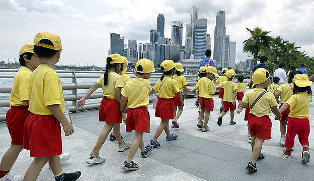 School children in Singapore