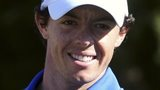 Rory McIlroy celebrates victory at the Australian Open