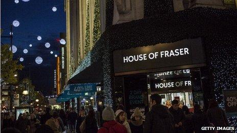 A crowded Oxford Street