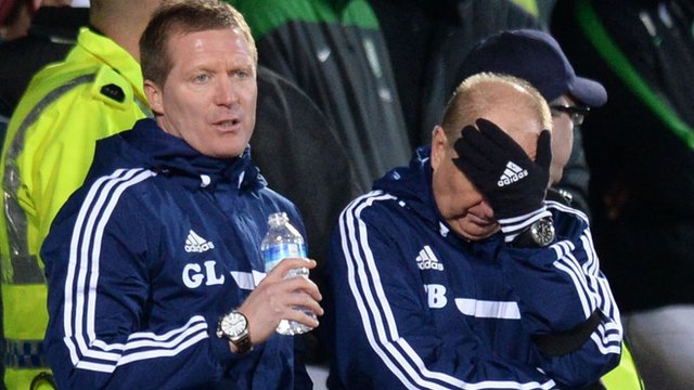 Interview - Hearts boss Gary Locke (left)