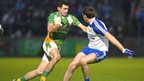 Glenswilly's Ciaran Bonner finds his path blocked by Enda Muldoon