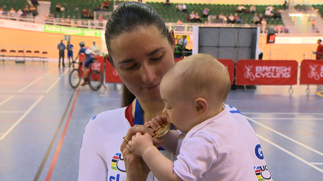 Dame Sarah Storey with daughter Louisa