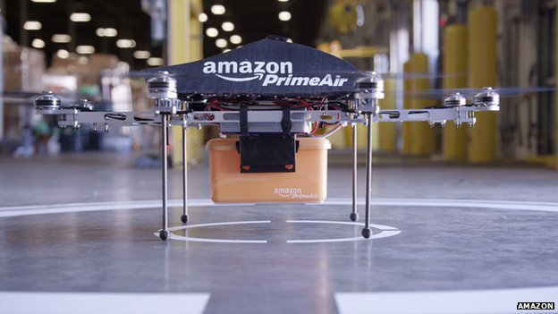 Amazon Octocopter on display
