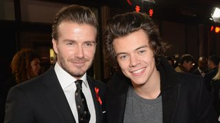 David Beckham (left) and One Direction star Harry Styles