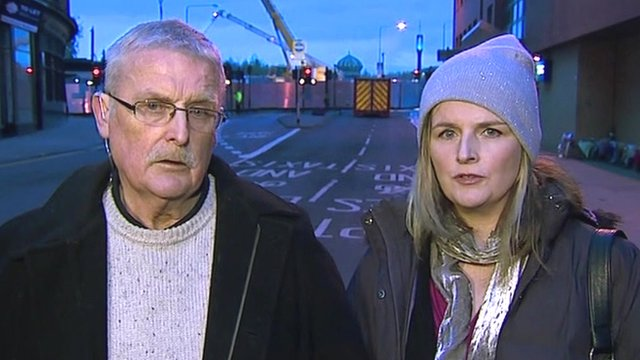 The father and sister of Mark O'Prey, Ian and Louise O'Prey