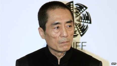 File pic taken on April 22, 2013 shows Chinese director Zhang Yimou attending a commercial event in Beijing.