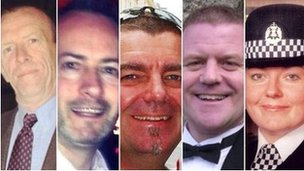 Five of the victims pictured