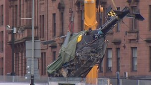 Helicopter lifted from Clutha bar