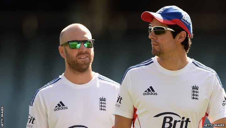 Alastair Cook and Matt Prior