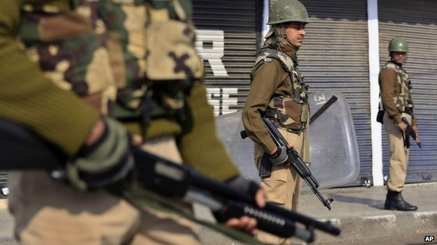 File photo of Indian security forces in Srinagar, Kashmir