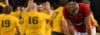 Wales dejected as Australia celebrate