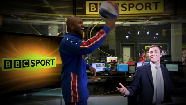 Harlem Globetrotter take over the BBC