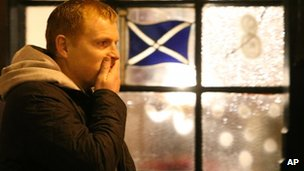 Neil Lennon at the Clutha bar