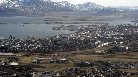 Aerial view of Reykjavik, 2005