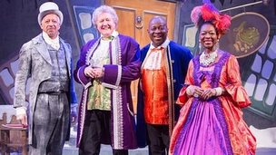 Derek Griffiths, Iain Lauchlin with Fingerbob, Dave Benson-Phillips and Baroness Floella Benjamin