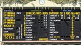 The scoreboard at the Adelaide Oval