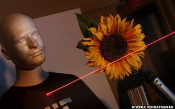 Mannequin with laser