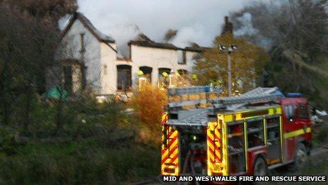 Blaze at Bwlch Y Sarnau