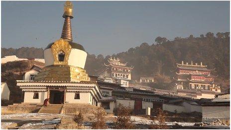 Gold-topped stupa