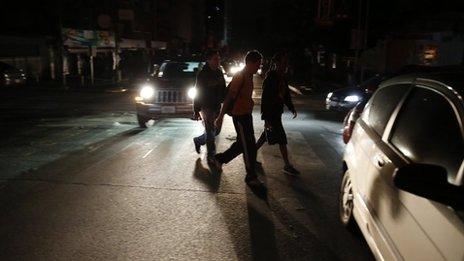 Power cut in Caracas. 3 Dec 2013