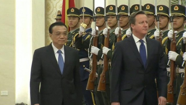 David Cameron and Premier Li Keqiang