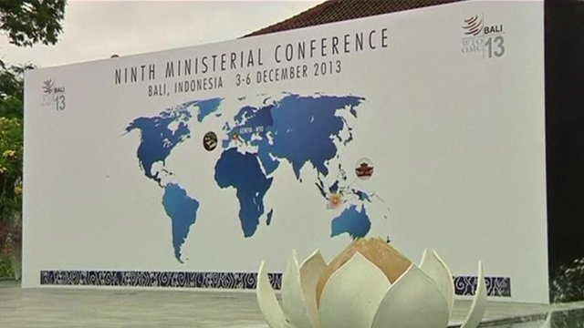 WTO conference in Bali, Indonesia