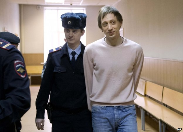 Pavel Dmitrichenko in court in Moscow, 3 December