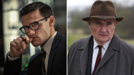Luke Evans and Jim Broadbent in The Great Train Robbery