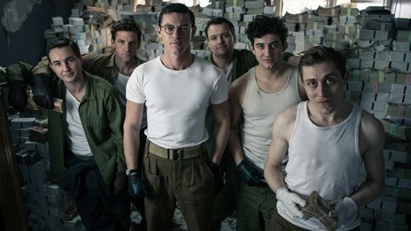 Martin Compston, Paul Anderson, Luke Evans, Neil Maskell, Jack Gordon and Jack Roth in A Robber's Tale