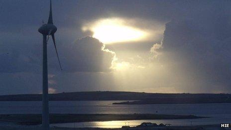 Orkney wind turbine