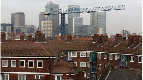 Housebuilding in east London