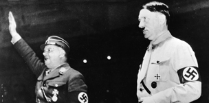 Ernst Roehm and Hitler. Getty Images
