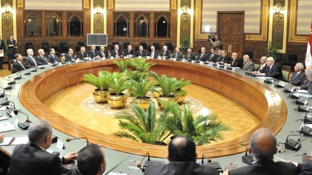 Egyptian interim government meets in Cairo (13 August 2013)