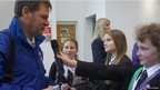 School Reporters interview member of the official England band