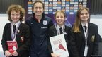 School Reporter swith Karen Carney