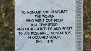 Tempsford Memorial