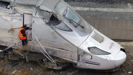 File picture of Santiago train crash