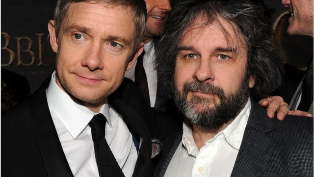 Martin Freeman and Peter Jackson