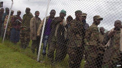 M23 fighters in Uganda (8/11/13)