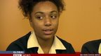 A student from Bullers Wood School appears on the BBC World News Channel