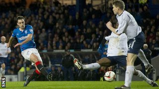 Lee Wallace scores for Rangers against Forfar Athletic