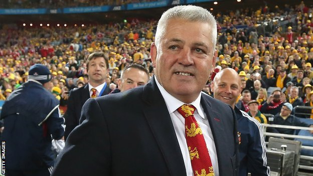 Wales and British Lions coach Warren Gatland