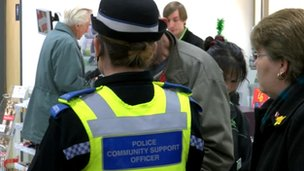 PCSO talking to members of the public