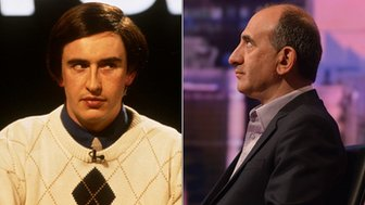Steve Coogan as Alan Partridge and Armando Iannucci