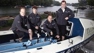 Cpt James Kayll, Trooper Cayle Royce, Cpt Scott Blaney and Mark Jenkins make up the Row2Recovery team