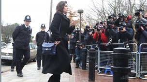 Nigella Lawson arrives at court