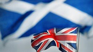Union jack and Scotland's saltire