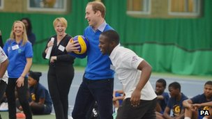 The Duke of Cambridge at Westway Sports Centre